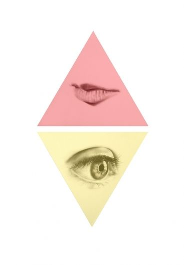 langdon graves - triangle, pink, yellow