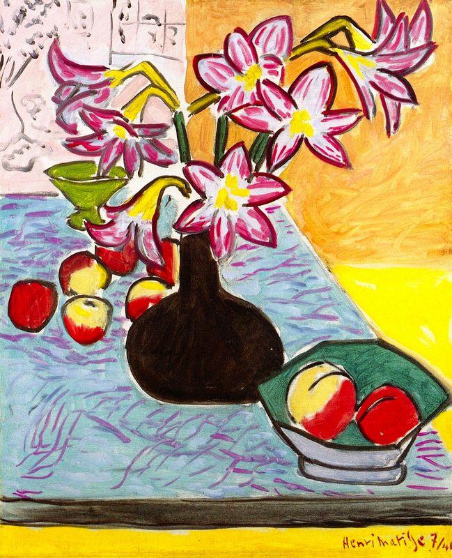 Vase of Amaryllis Henri Matisse