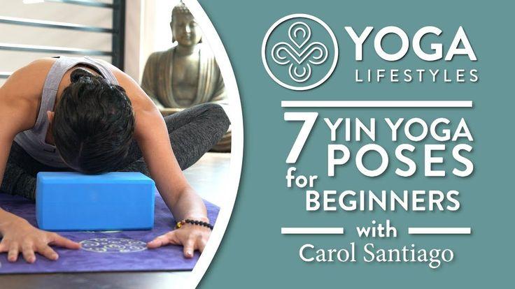 Restorative Yoga for Beginners: 7 Yin Poses for Relaxation, Destressing ... #yogaforbeginnersrelaxation