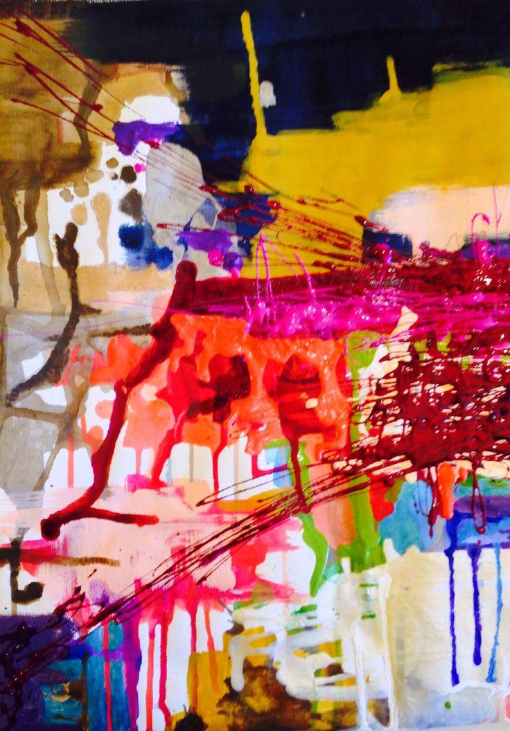 """Chicago"" - Acrylic on canvas."