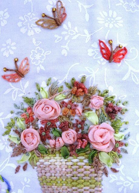 Best embroidery baskets vases images on pinterest