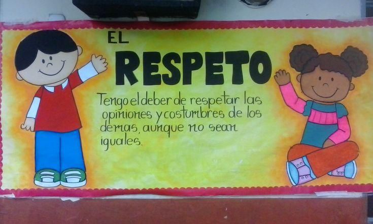 Resultado de imagen para cartelera sobre el respeto