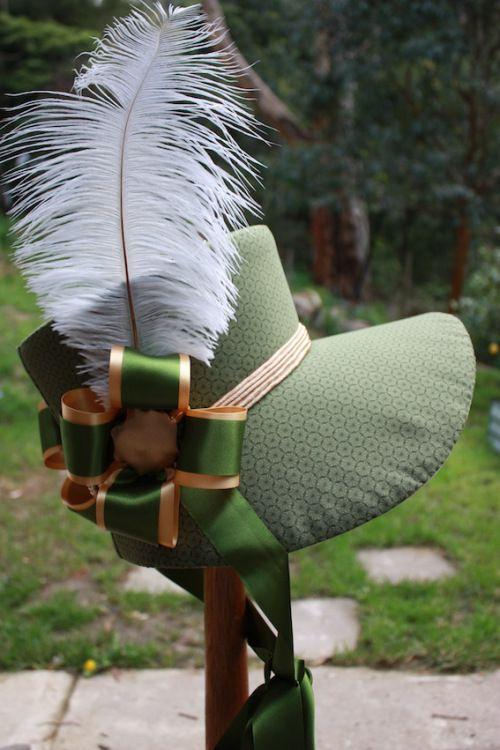 How to make a late regency bonnet.