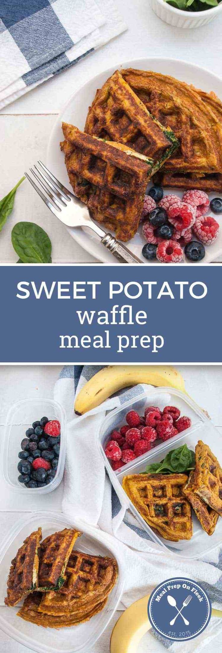 Sweet Potato Waffle Meal Prep - Meal Prep on Fleek