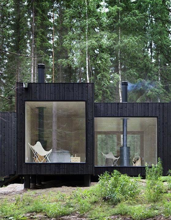 rchitect's cozy retreat in Finnish forest