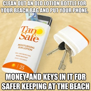 money keys safe at the beach, thats also really good cause im gonna got o the beach for my birthday!!!