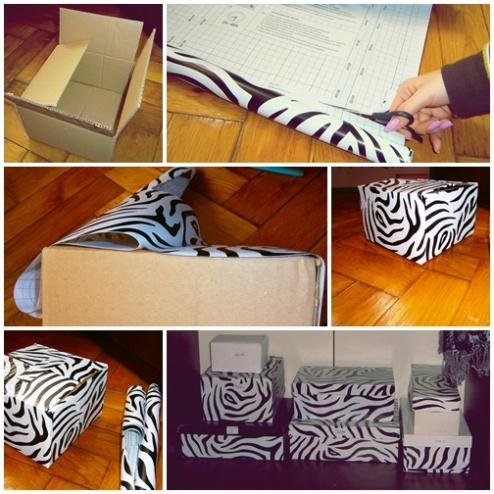 Cum sa transformăm cutiile de pantofi în cutii decorative pentru depozitare