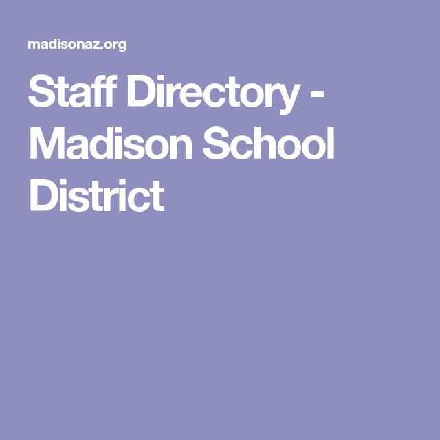 Staff Directory - Madison School District