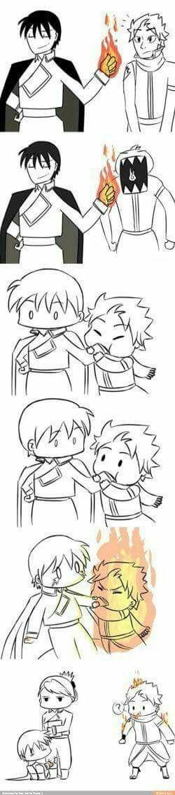 Hshshsh que fofo! Animes: Fairy Tail e Fullmetal Alchemist.
