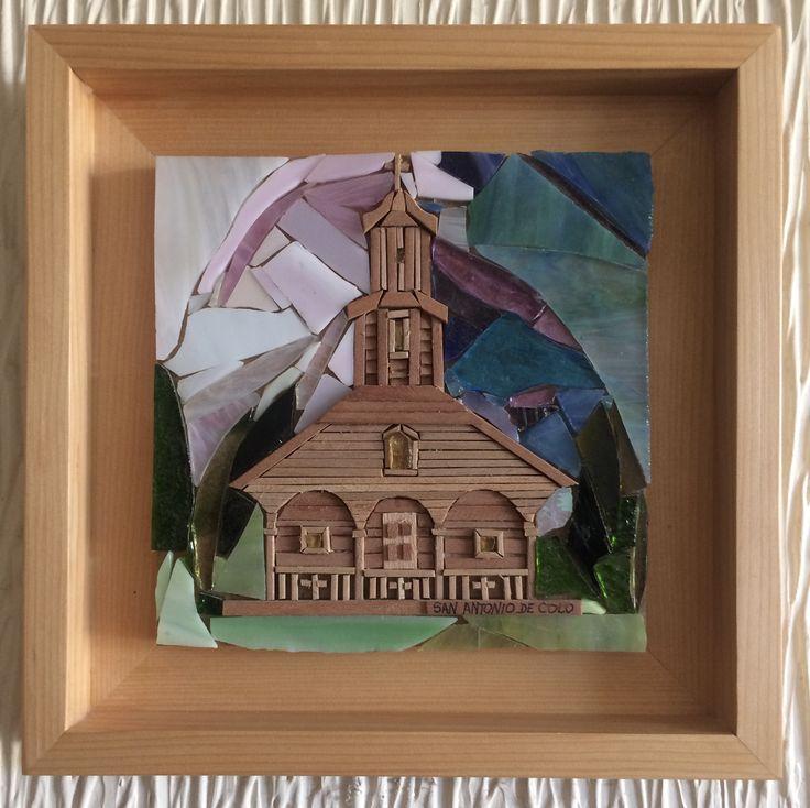 Iglesia de Colo Chiloé 15 x15cm