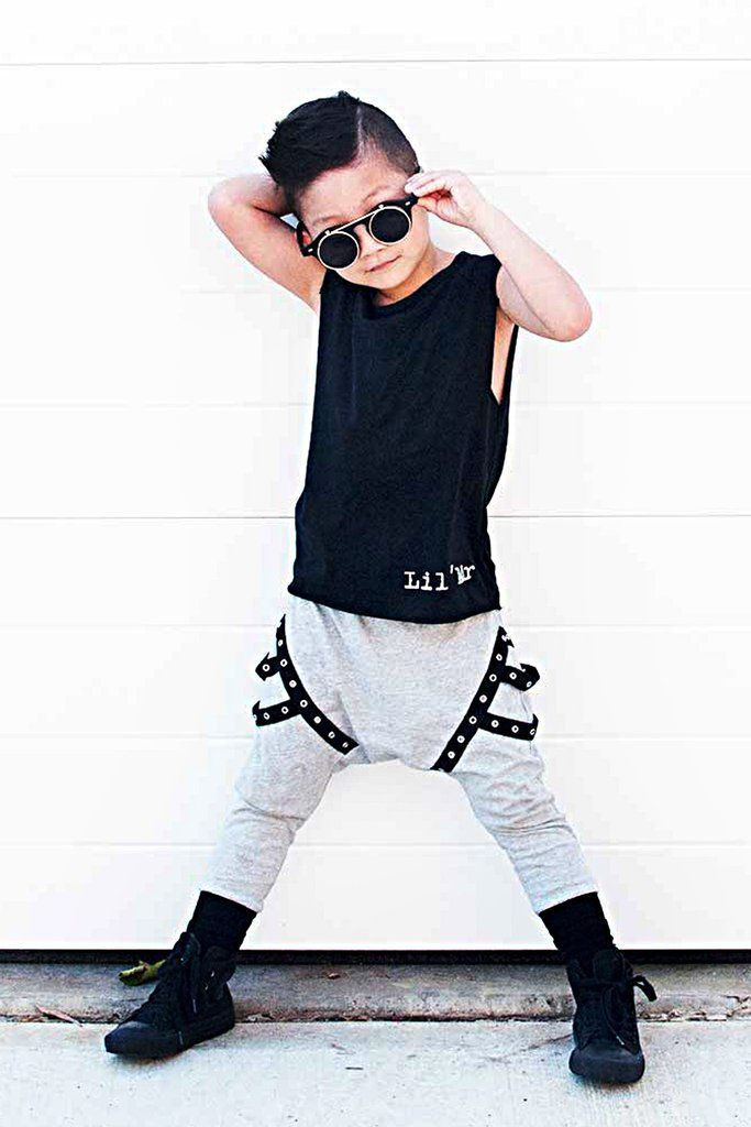 Black Boys and Girls Lil' Mr Muscle top / Singlet