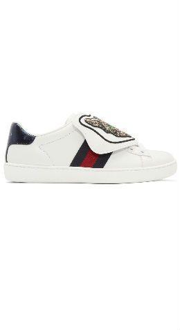 74457d1e192 Gucci White New Ace Sneakers