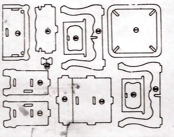 printable miniature furniture  puzzle like style