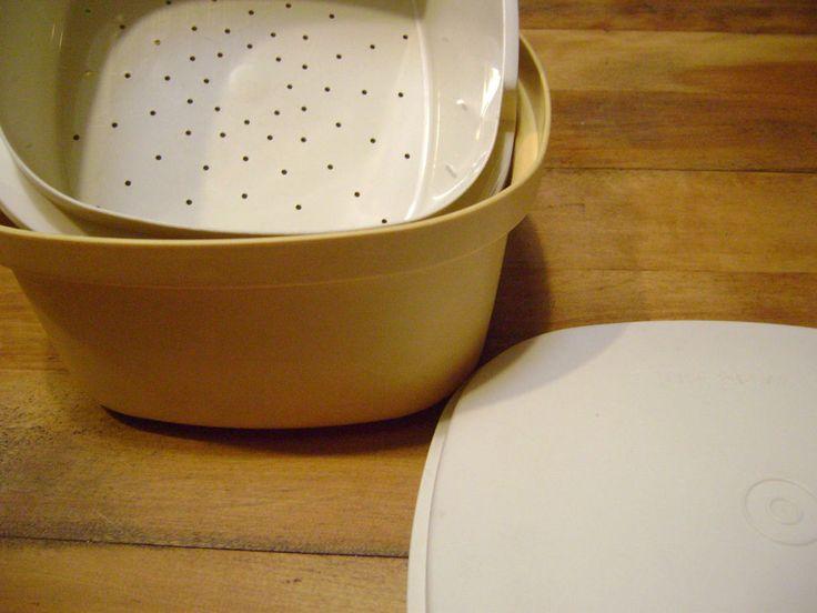Vintage Tupperware Bowl Lid Strainer Vegetable Steamer