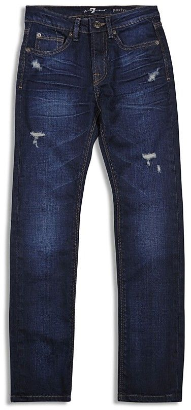 7 for All Man Kind Boys' Paxtyn Distressed Straight Jeans - Sizes 8-16