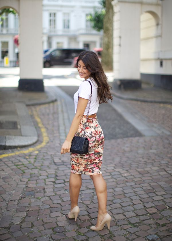 Floral print skirt | Style Crush: Mimi Ikonn on Yours Truly