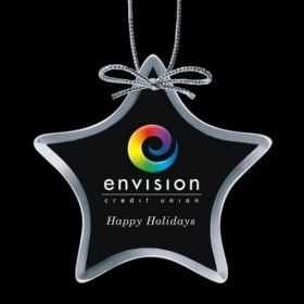 """Promotional Products Ideas That Work: Starfire Ornaments w/VividPrint™ - Star 4"""". Get yours at www.luscangroup.com"""