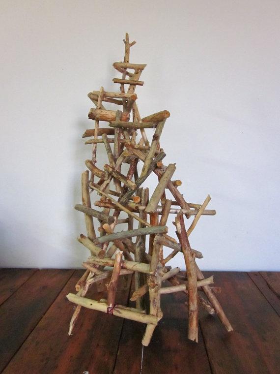 Natural Stick Sculpture by CharestStudios on Etsy, $72.00