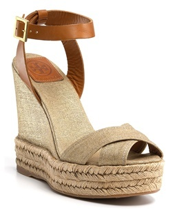 Tory Burch Fabian espadrille in gold. Available at Monkee's of Morrocroft