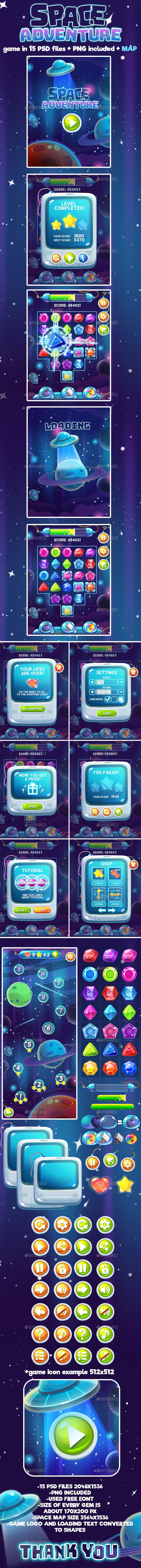 Space Adventure Full Game Set (User Interfaces)