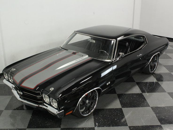 1970 Chevrolet Chevelle SS Pro Touring AWESOME LS2 CONVERSION! TREMEC 6 SPEED 70 triple black Satin black HRE 3-piece wheels 20inch grey red stripes