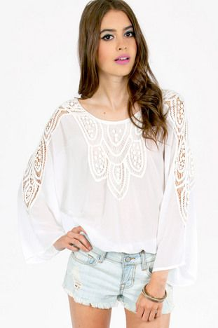 Bella Crochet Long Sleeve Top $62 http://www.tobi.com/product/51201-tobi-bella-crochet-long-sleeve-top?color_id=68954_medium=email_source=new_campaign=2013-06-26