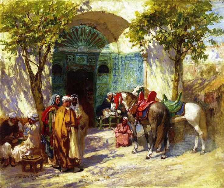 Frederick Arthur Bridgman - Outside the Mosque