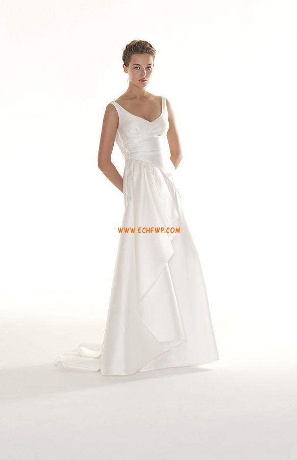 Kyrka Court Släp Naturlig Billiga Bröllopsklänningar