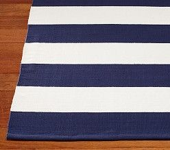 Navy White Rug For Nautical Themed Nursery Or Toddler Room
