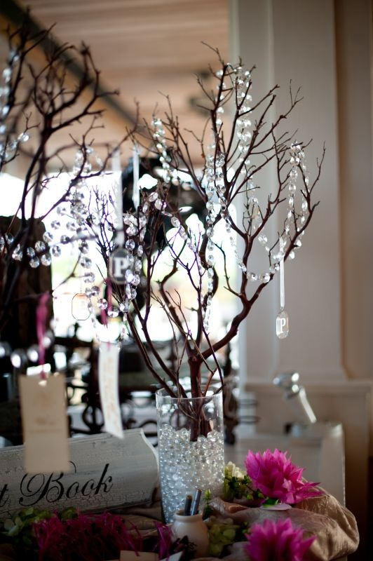 white branches clear beads submersible led light in bottom of rh pinterest com