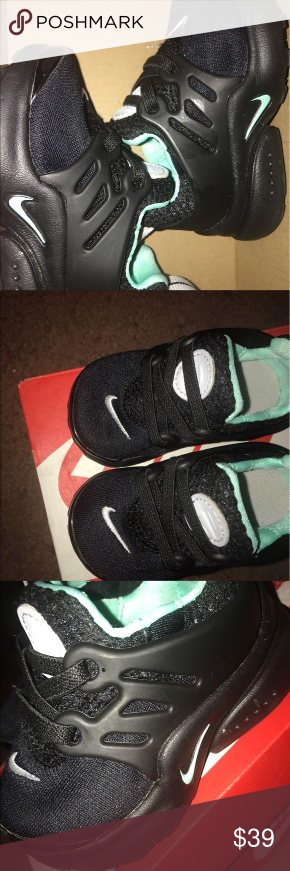 Baby Nike Presto Sneakers All black baby Nike Presto with real colored detail. Worn 2x. Very cute and fashionable. Nike Shoes Sneakers