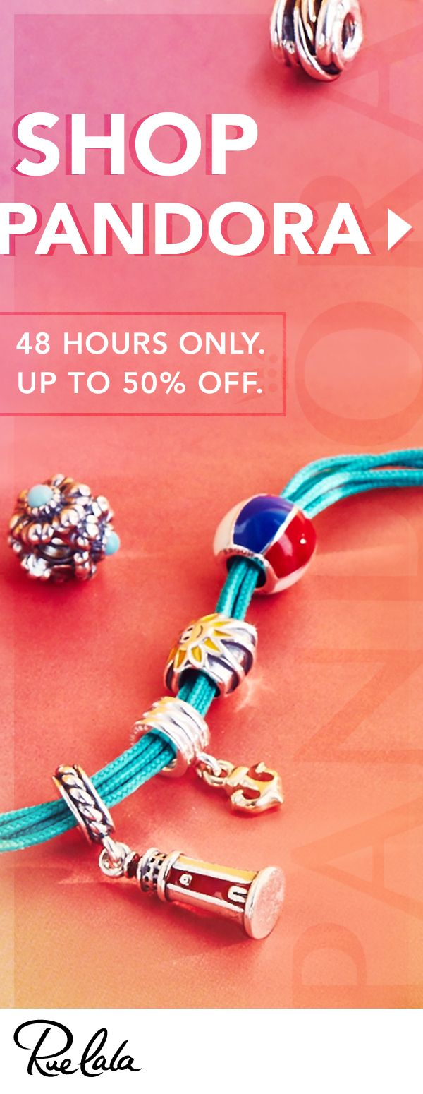 Find all your favorite PANDORA pieces at WOW prices. Only on Rue La La.  Only for the next 48 hours.