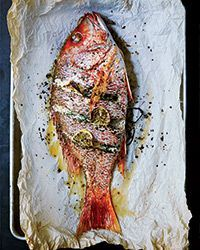 Whole Roast Fish with Lemon & Herbs - This whole fish stuffed with herbs, lemon and aromatics is easy to prepare and makes a gorgeous, hands-off main dish.