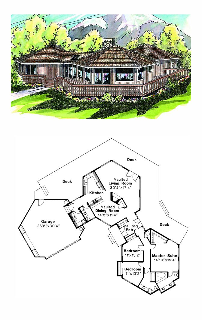 COOL House Plan ID: Chp 19987 | Total Living Area: 1986 Sq.