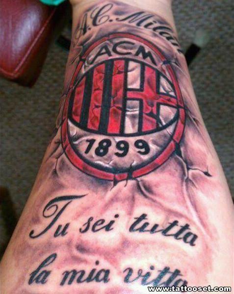 ac milan tattoo design