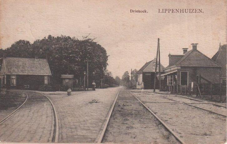 Lippenhuizen Driehoek - poststempel 1912 - uitgave Firma R. Kiemstra, Gorredijk