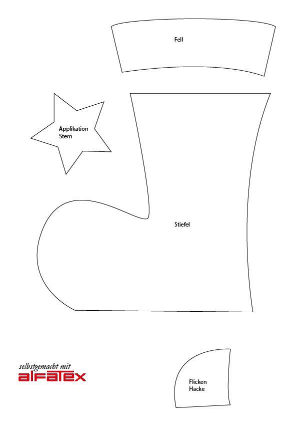 die besten 25 nikolausstiefel n hen ideen auf pinterest. Black Bedroom Furniture Sets. Home Design Ideas