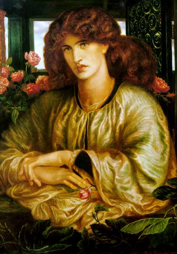 la donna della finestra.  Jane Morris (nee Burden), wife of William Morris & muse of Dante Gabriel Rossetti.  Artist.  Member of the Pre-Raphaelite Sisterhood.