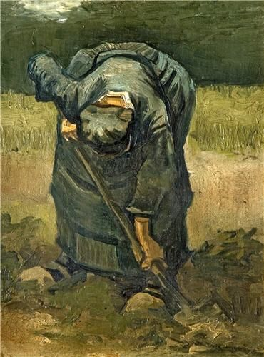 A Peasant Woman Digging Nuenen, Holland, 1885 Oil on canvas, laid down on panel…