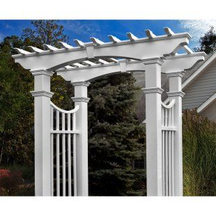 112 best images about fences gates arbors and swings on for Fypon pvc trellis system