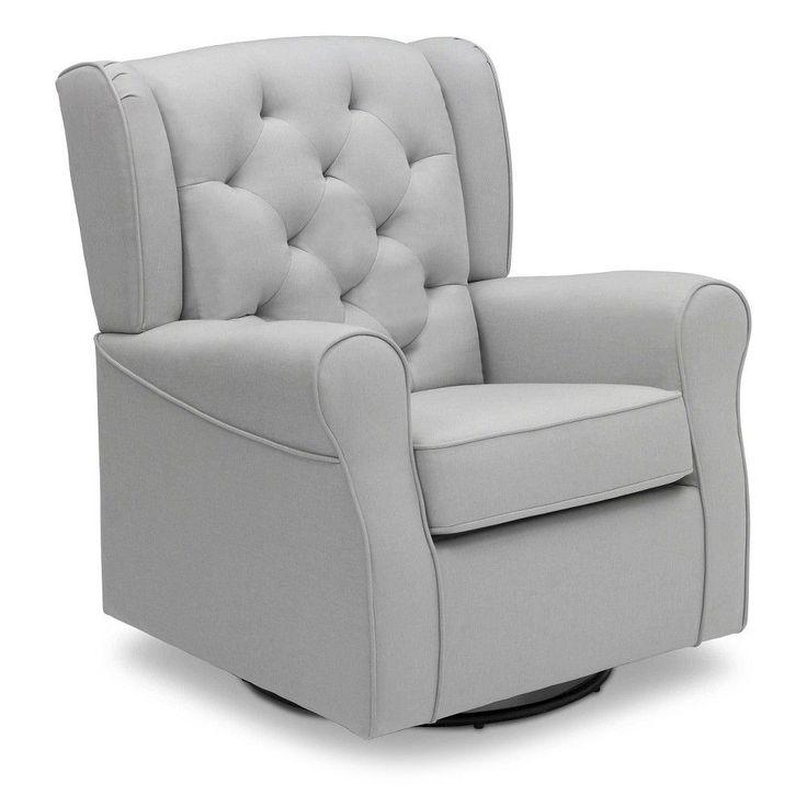Delta Children Emma Nursery Glider Swivel Rocker Chair - French Grey