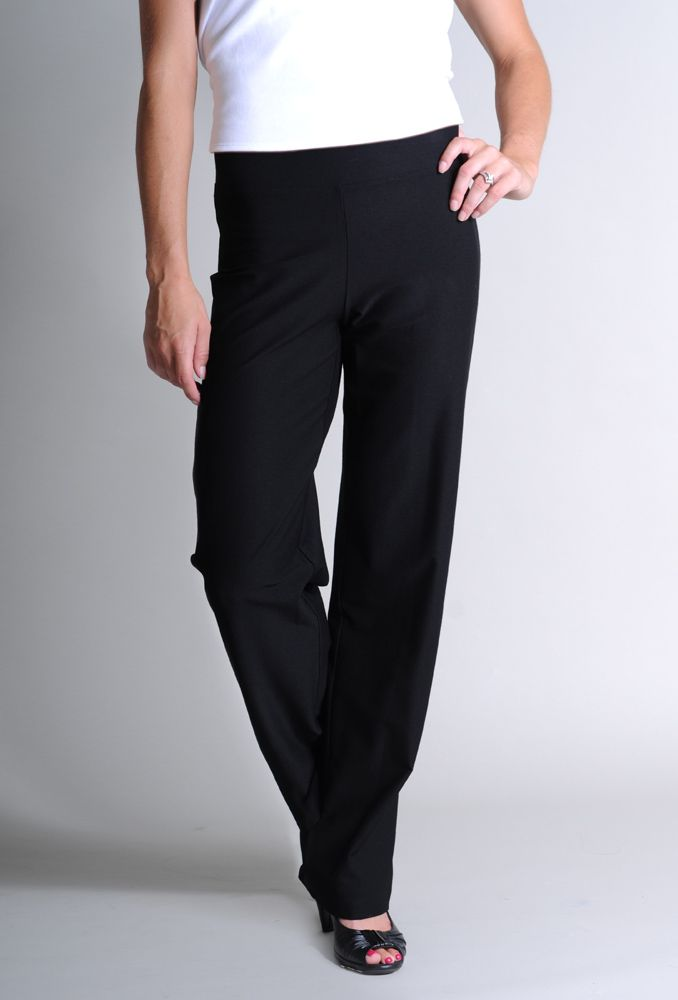 Eileen Fisher Petite Washable Stretch Crepe Straight Leg Pant #EileenFisher