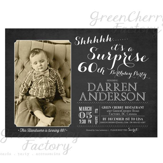 Adult Photo Birthday Invitation