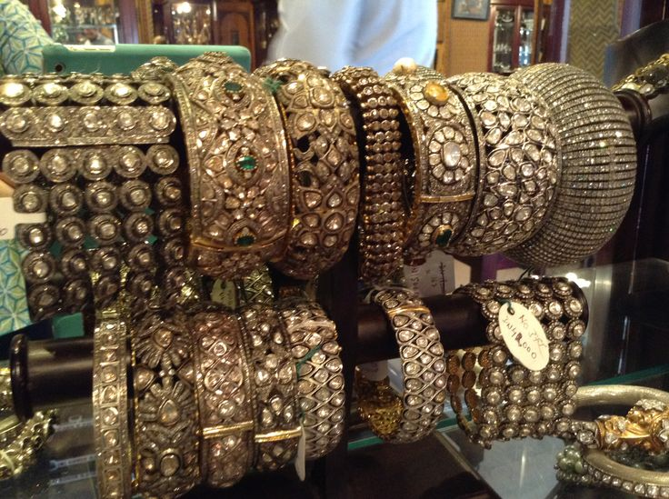 Diamond bangles that I saw when I visited Gem Palace in Jaipur.  I was in bling heaven.