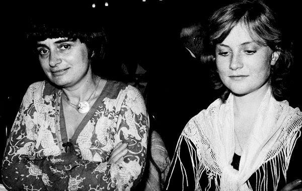 Agnès Varda and Isabelle Huppert photographed by Caterine Milinaire at Studio 54, 1977-2