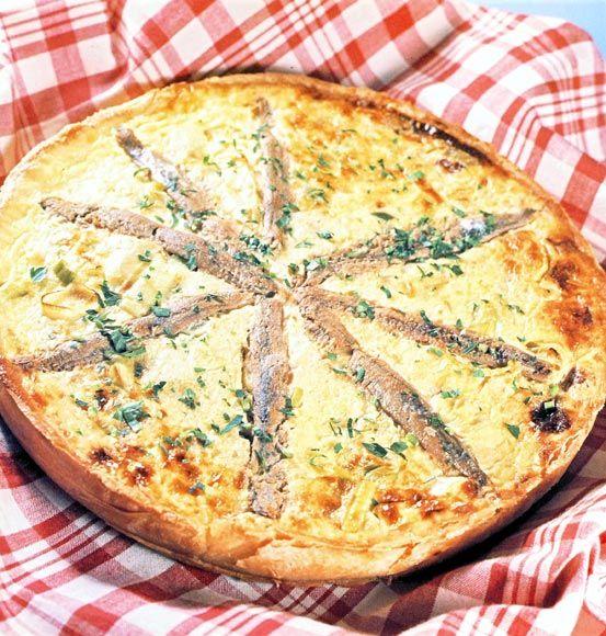 Quiche de puerros y anchoas #cuisine #recipes