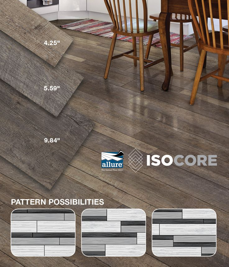 You Can Install Allure ISOCORE Multi Width Vinyl Plank Flooring In A  Variety Of Different