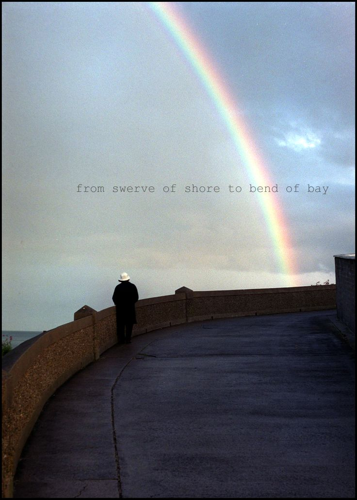 """A photograph I took in Dublin, with a quote from James Joyce....""""from swerve of shore to bend of bay"""""""