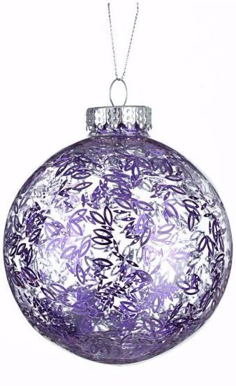 CANVAS Spiced Plum Glitter Leaf Ball Ornament is a beautiful addition to any tree | Canadian Tire Christmas