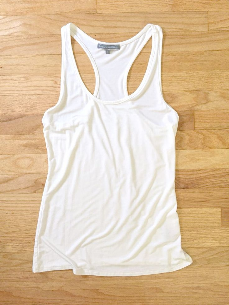 Essential Racerback Tank Top in White